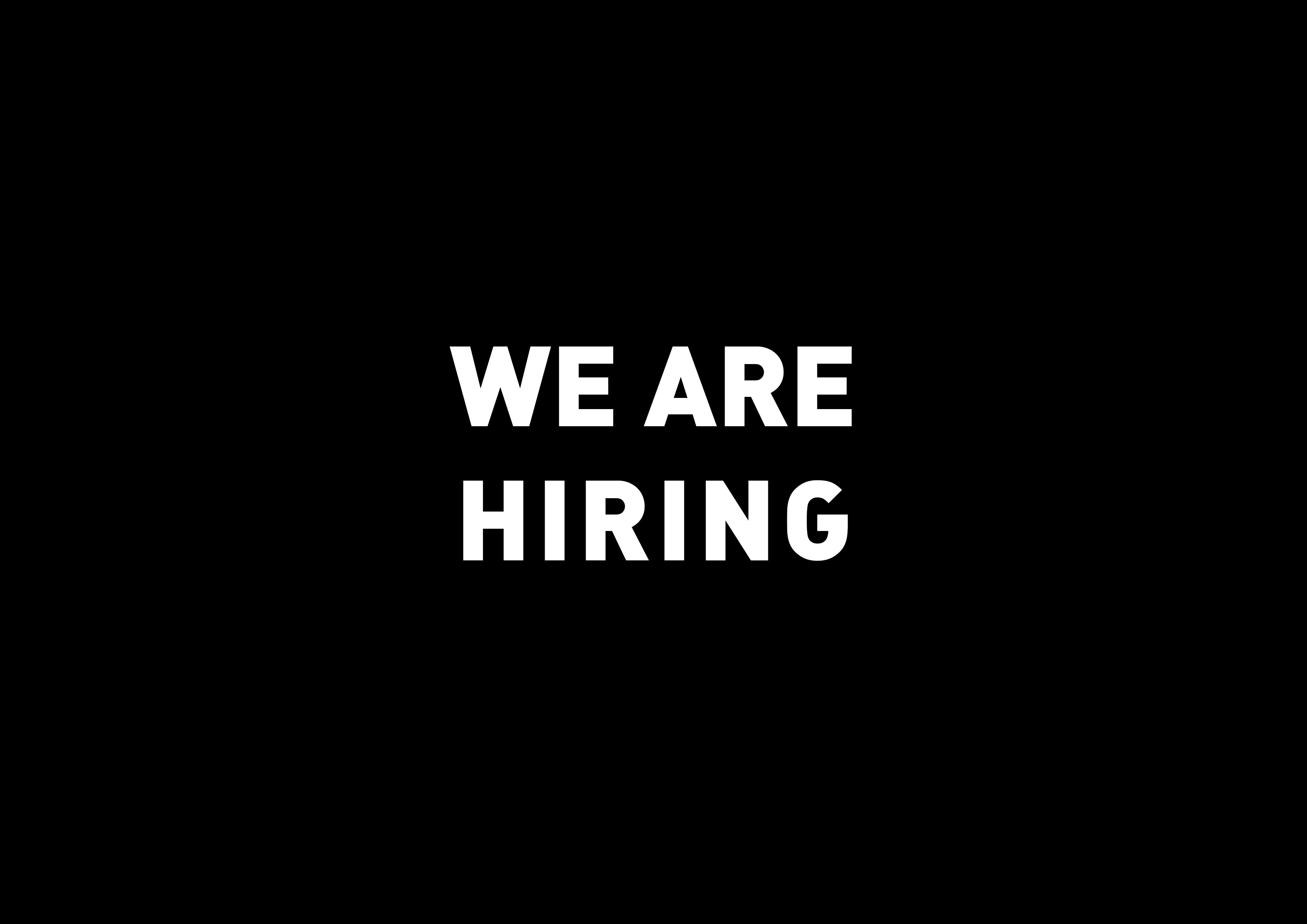 We are hiring! …